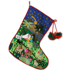 Visit of the Magi Applique Christmas Stocking