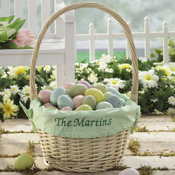 Personalized Hostess Lime Green Liner Easter Basket