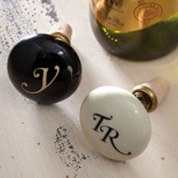 Single Monogram Wine Stopper