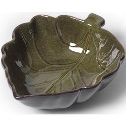 Rustic Leaves Green Fruit Bowl