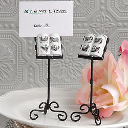 Whimsical Music Stand Place Card Holders