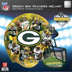 500-Piece Green Bay Packers Helmet-Shaped Puzzle