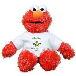 Personalized First Christmas Plush Elmo Stuffed Animal