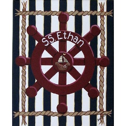 Nautical Captain Canvas Wall Hanging