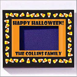 Personalized Halloween Candy Corn Frame