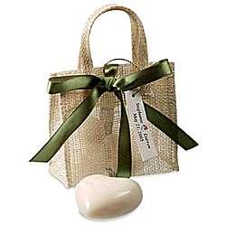 Heart Soap in Mini Jute Bag Favor