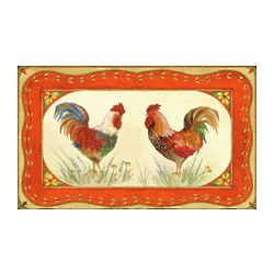 Rooster Pair Kitchen MatMate Doormat