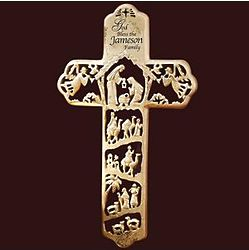 Personalized Nativity Wall Cross