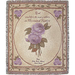 Personalized Mother or Grandmother Roses Tapestry Throw
