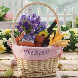 Personalized Hostess Pink Liner Easter Basket
