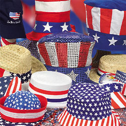 Assorted Patriotic Hats
