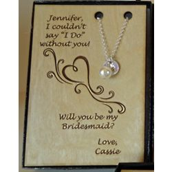 Personalized Bridesmaid Invitation Necklace