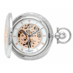 Rose Gold Engravable Pocket Watch and Chain