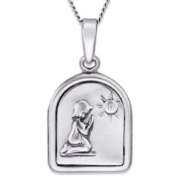 Sterling Silver Praying Child Medal