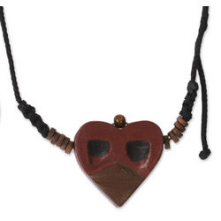 Men's Kwele Ghost Love Wood Pendant