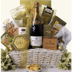 Simply Chic Bouvet Brut French Sparkling Wine Gift Basket