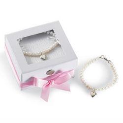 Girl's Heart Pearl Bracelet