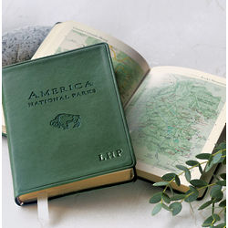 Leather Bound National Parks Atlas