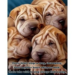 Personalized Puppy Pileup Premium Luster Print