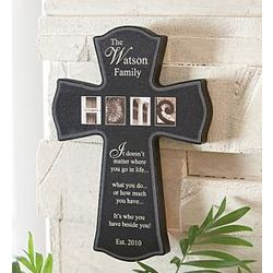 Personalized Industrial Letters Family Cross