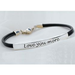 Personalized Love You More Bracelet