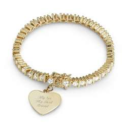 Gold and Cubic Zirconia Tennis Bracelet