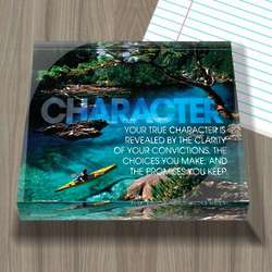 Character Inspirational Acrylic Paperweight