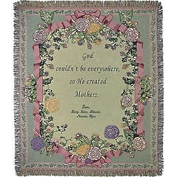 Personalized Mother or Grandmother Ribbon Tapestry Throw