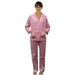 Women's Toile Printed Cotton Flannel Pajamas