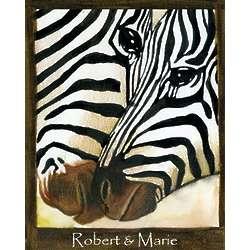 Striped Pair Personalized Zebra Print