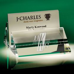 Optic Crystal Personalized Card Holder