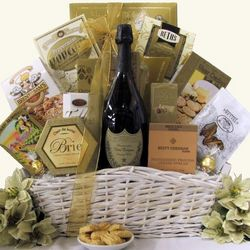 Simply Chic Dom Perignon Champagne Gift Basket