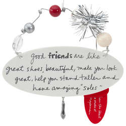 Friend Are Like Shoes White Oval Plaque