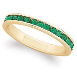 18 Karat Gold-Plated May Birthstone Eternity Ring