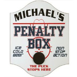 Handcrafted Penalty Box Pub Sign