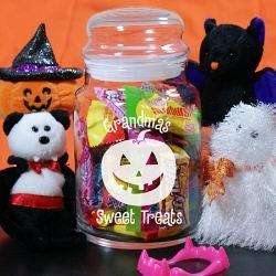 Personalized Halloween Treat Jar
