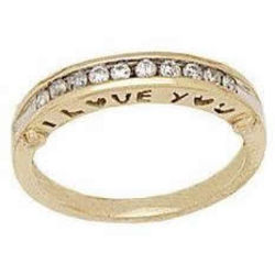 """I Love You"" Diamond Band"