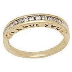 """I Love You"" Diamond Band"