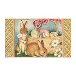 Basket Bunnies Easter MatMate Doormat