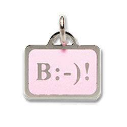 Be Happy Emoticon & Texting Charm Necklace