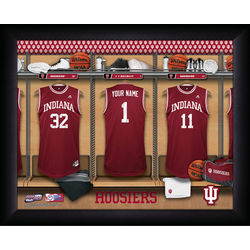 Indiana Hoosier Personalized Basketball Locker Room Framed Print