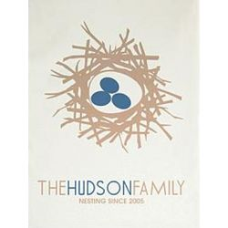 Personalized Family Nest Wall Art