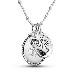 Personalized Expressions Angel Charm Necklace