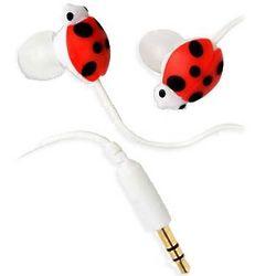 Lady Bug Ear Bud Headset