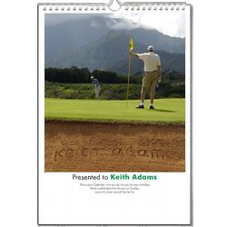 Personalized A4 Golf Calendar