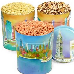 Birthday Flavors Popcorn Chicago Skyline Tin