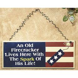 Old Firecracker Wooden Wall Sign