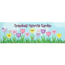 Personalized Tulip Garden Canvas