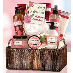 Forty and Fabulous Spa Gift Basket