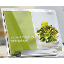 Cookbook Holder with Glass Cover
